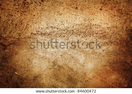 Closeup of rough brown background - stock photo