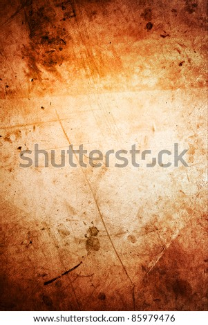 Closeup of rough brown grunge vertical background. Copy space - stock photo