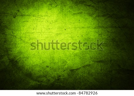 Closeup of rough green textured background. Copy space - stock photo