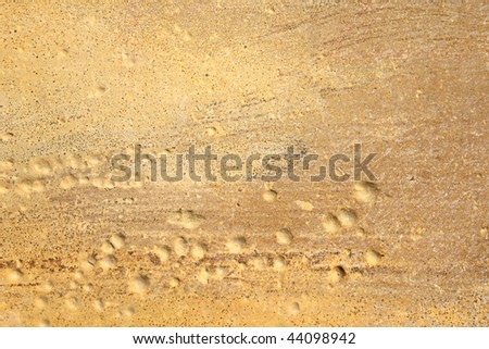 Closeup of rough sandstone surface