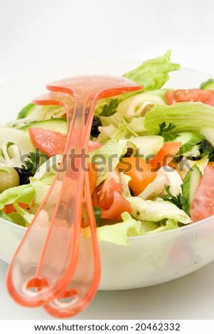 closeup of salad