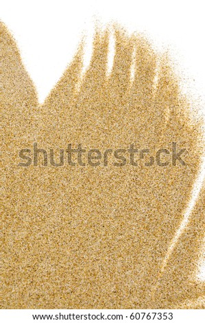closeup of sand isolated on a white background - stock photo
