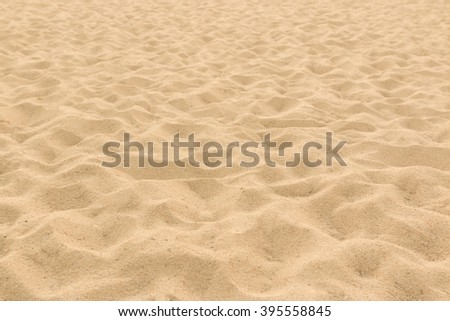 closeup of sand pattern of a beach in the summer use for background - stock photo