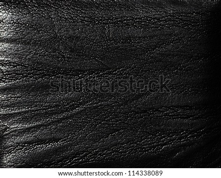 Closeup of seamless luxury  black leather texture - stock photo