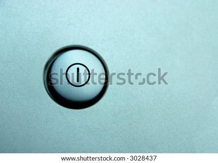 closeup of silver standby button - stock photo