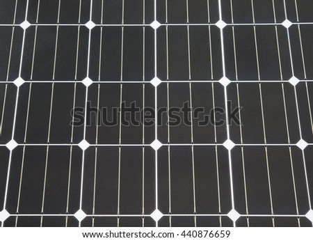 Closeup of solar panel - stock photo