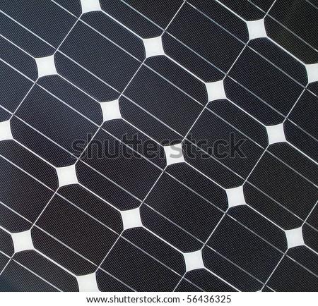 Closeup of solar panel - stock photo