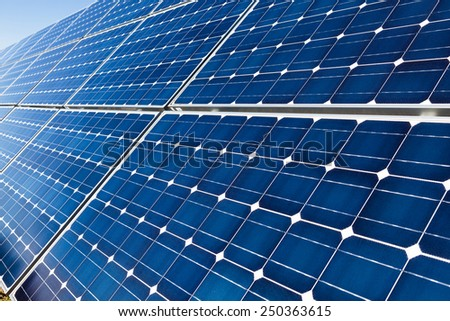 Closeup of solar panels background