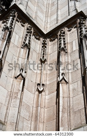 Closeup of Stevenschurch (Stevenskerk) in Nijmegen, The Netherlands. - stock photo