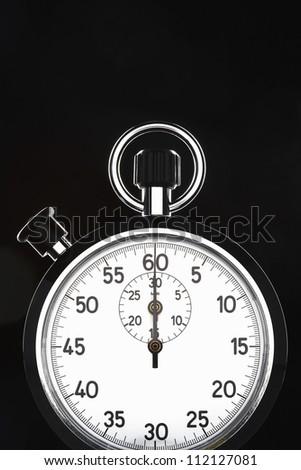 Closeup of stopwatch - stock photo