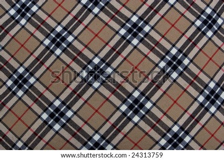 Closeup of striped woolen cloth - stock photo