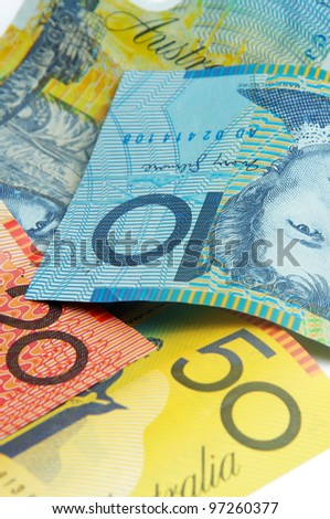 closeup of the australian money - stock photo