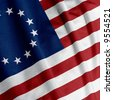 Closeup of the Betsy Ross flag, square image - stock photo