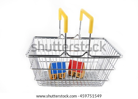 closeup of the concept of house shopping - stock photo