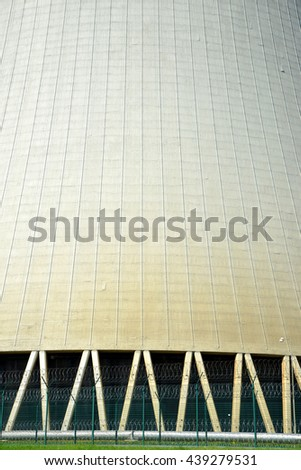 Closeup of the cooling tower of the nuclear power plant Temelin - Czech Republic  - stock photo