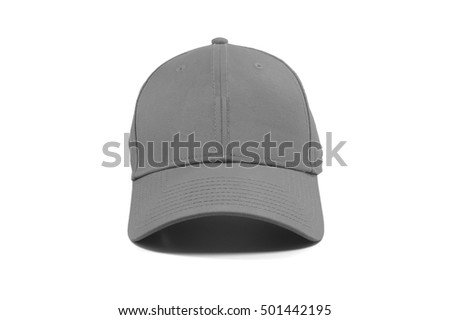 Closeup of the fashion gray cap isolated on white background.