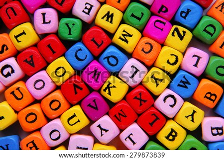 closeup of the multicolour letters - stock photo