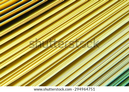 closeup of the paper yellow catalogue - stock photo