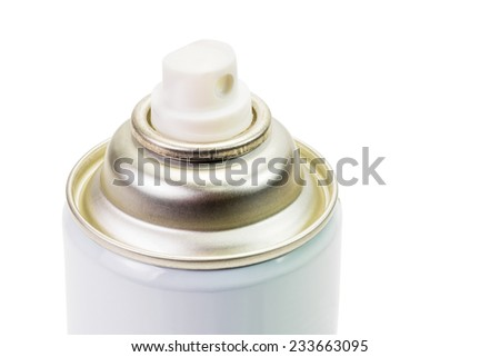 Closeup of the spray can isolated on white background - stock photo