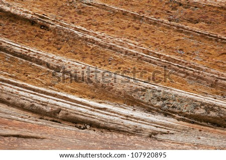 Closeup of the unusual rock textures of Zion National Park, USA - stock photo