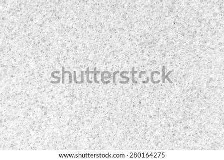 closeup of the white porous texture background - stock photo