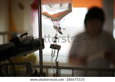 Closeup of thoracic surgery - stock photo