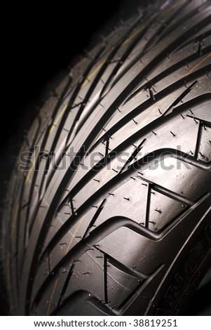 Closeup of tire - stock photo