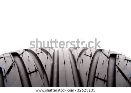 Closeup of tire tread - stock photo