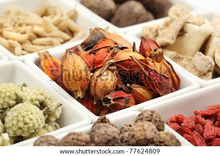 Closeup of traditional Chinese medicine