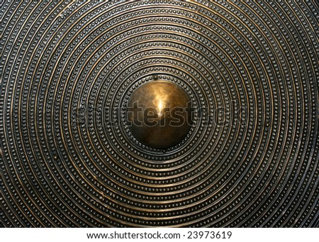 Closeup of Viking shield - stock photo