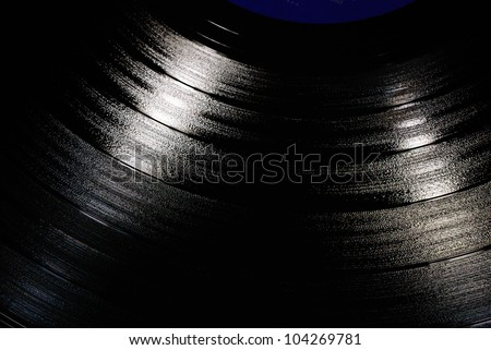 Closeup of vintage vinyl LP record - stock photo