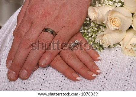Closeup of wedding rings