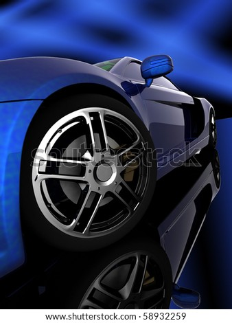 Closeup of wheels of machine on black background - stock photo