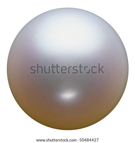 Closeup of White pearl. - stock photo