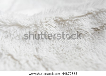 Closeup of white terrycloth