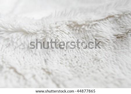 Closeup of white terrycloth - stock photo