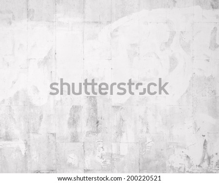 Closeup of white tile painted wall - stock photo