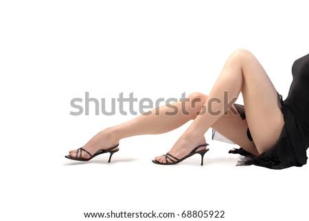 Closeup of woman's legs - stock photo
