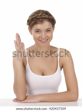 gorgeous white nud women railed