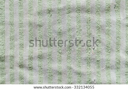 Closeup old and dirty napkin fabric background