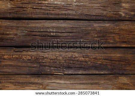 Closeup Old Planks of Wood Textured Background