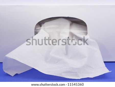 closeup on box of facial tissue - stock photo