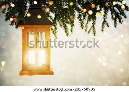 Closeup on Christmas  decoration over bokeh background