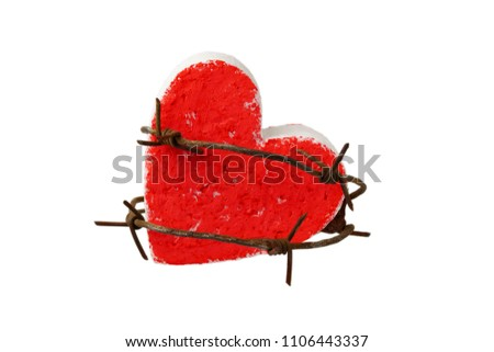 Closeup On Rusty Barbed Wire Wound Stock Photo (Royalty Free ...