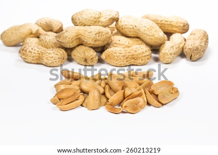 Closeup Peanuts - stock photo