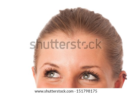 Closeup photo of a pretty womans face