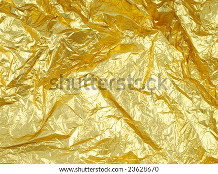Closeup photo of abstract golden grunge background - stock photo