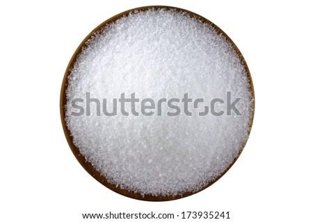 Closeup photo of fine Magnesium sulfate (Epsom salts) - stock photo