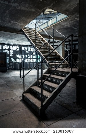 Closeup Photo Of Industrial Stairs