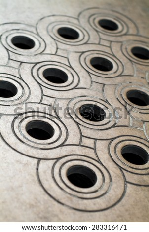 closeup photo of the pavement outside St Vitus Cathedral in Prague